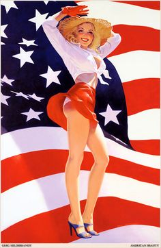 patriotic pin up girl art | Pin-up Art | Weblog of Miss-Lou Motor Mafia | Page 3