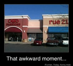 Didn't get it at first but they put a CATO fashions right next to a RUE 21. Hunger games, everyone loves Rue.
