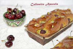 Cake moelleux à la pistache et aux cerises