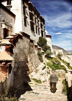 Leaving the Potala in Lhasa
