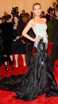 Best Dressed at the 2013 Met Gala – Blake Lively in Gucci Première