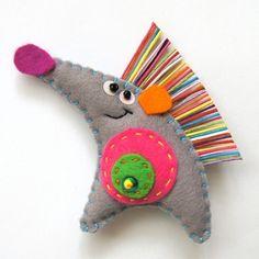 A lovely felt brooch hedgehog, craft, pincushion, art, felt brooch, hand made, accessories, handmade toys, ruffles