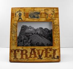Antique Travel picture frame