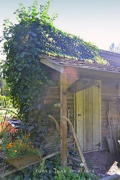 Rustic shed with covered porch inspiration for the for Rustic shed with porch
