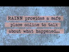 ▶ RAINN's Online Hotline: Free. Safe. Confidential. - YouTube