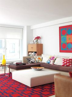 spice up your room with red via matty chuah nest red rug modern art