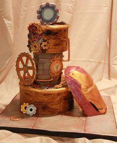 Steampunk Iron Man Cake