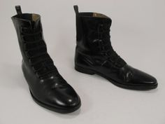 Radical mens 90s Black Pull On Boots size 11.5 US by Kokorokoko, $66.00