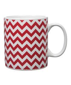 Red Zigzag Mug