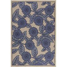 """Indoor/Outdoor Floral Rug 7'9"""" x 11'2"""" - $100 (Midtown)"""