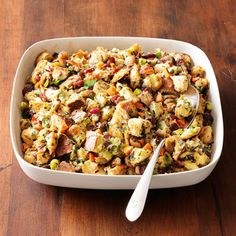 Herbed Chestnut Bread Stuffing   Would add wild rice