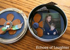 A lovely little mini-scrapbook in a tin, perfect for Mother's Day1