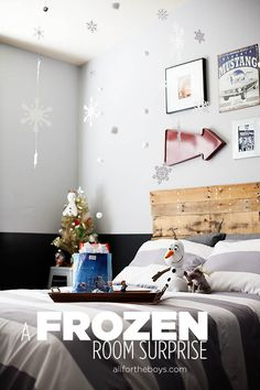 Kid Inspiration - All for the Boys - A FROZEN Bedroom Surprise!
