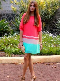marianela406862 Outfit   Primavera 2012. Combinar Vestido Rojo suave Blanco, Bolso Dorado accesorize, Tacones-Plataformas Marrón suave Blanco, Cómo vestirse y combinar según marianela406862 el 12-5-2012