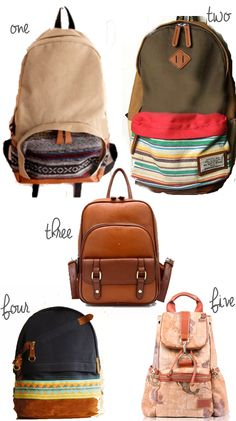 back to school back packs for college kids ranging from $19-$39 #backpacks #schoolbags