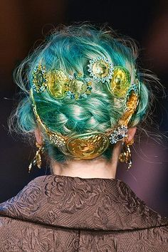 Dolce Gabbana SS2014 #turquoise