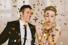 new years eve confetti // Green Wedding Shoes