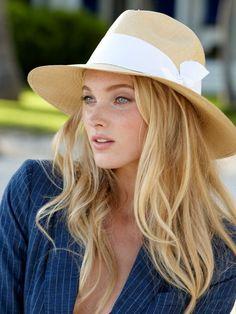 panama hat, summer styles, summer hats, straw hats, blond, elsa hosk, summer chic, sun hats, fedora