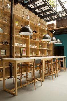 Animal Music Office   Wooden Office Interiors