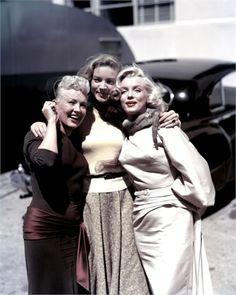 Betty Grable, Lauren Bacall, Marilyn Monroe, 1953.