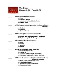 The Giver Questions Chapter 1