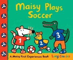 Tuesday, May 13, 2014. Maisy and her friends can't wait to play soccer! Maisy puts on her uniform, laces up her sneakers, and heads to the field. Charlie, Tallulah, and Dotty are on the blue team, while Maisy, Cyril, and Eddie are on the red. Let's play! Soon enough the game heats up, with plenty of action, excitement, and suspense. Who will be the first team to make a goal? Whatever the score, it's all in good fun, and everyone is still the best of friends at the end!