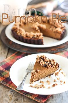 Paleo Pumpkin Pie  A healthy dessert option for you this Thanksgiving by The Healthy Foodie