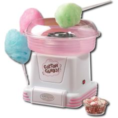 OK, This is seriously cool.  A machine that can turn ANY hard candy into fluffy cotton candy!