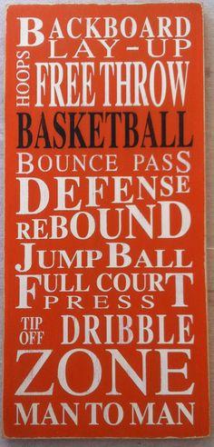 Basketball - Typography Word Art