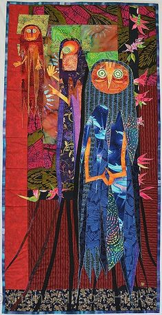"""""""Stage Crew"""" - appliqué art quilt by Allison Hicks. This quilt is hanging in my living room right now."""