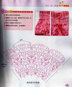 Graficos y Crochet: falda para niña