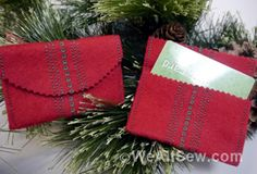 #gift cards by kari carr #gift card #kari carr #holiday #gift #celebration #present #money envelope #diy #envelope #gift idea #last minute gift #bernina #diy #wool felt #stitch recipe