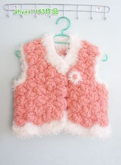 Crochet rose vest ♥ with diagram and tutorial