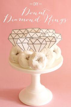 DIY diamond rings for a breakfast bridal shower