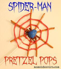Spider-man pretzels