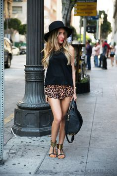 Leopard Shorts, those shoes, that Alexander Wang bag.