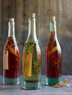 DIY vinegars and oils...lovely