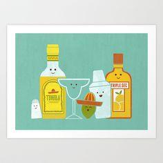 Margarita! Art Print by Teo Zirinis - $16.00