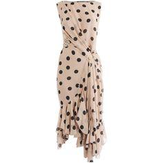 Nina Ricci Silk polka dot-dress ($2,984) ❤ liked on Polyvore