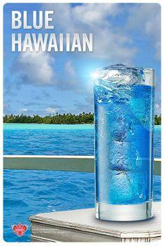 Blue Hawaiian (1 oz Smirnoff Orange Flavored Vodka, 1 oz Blue Curacao, 2 oz Orange Juice, 1 oz Pineapple Juice)