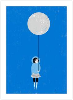 The Moon is Mine - Poolga Prints