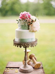 small wedding cake by holy sweet  http://www.weddingchicks.com/2013/09/12/rustic-after-the-wedding-shoot-ideas/
