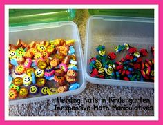 Herding Kats in Kindergarten: Bright Ideas Blog Hop ~ Inexpensive Manipulatives - and How to Store Them!