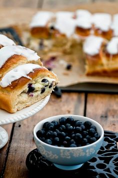 cream cheese and blueberry rolls