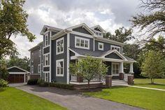 James Hardie's Iron Gray JH90-30 paint color, home exteriors, brick, exterior color, white, hous, siding colors, craftsman homes, iron