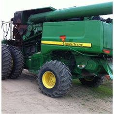 John Deere 9670 combine salvaged for used parts. Millions of new, rebuilt and used parts in our 7 huge salvage yards. For parts call 877-530-4430 or http://www.TractorPartsASAP.com