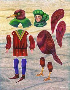 bosch & brueghel paper doll, via Etsy