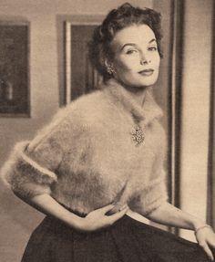 angora spencer, bolero jacket, knitting patterns, vintage, jackets, vintag knit, boleros, jacket knit, knit pattern