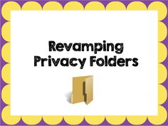 The Next Generation of Privacy Folders - how to update your privacy folders to create a study carol. This will give students a choice of where to sit in the classroom to help them focus.