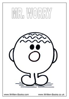 Free Printable Coloring Sheets/Mr. Men - great for social skills